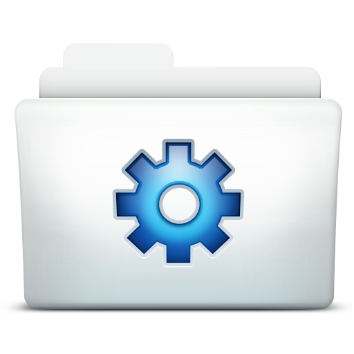 http://www.iconarchive.com/icons/artua/mac/512/Folder-Tools-icon.png