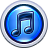http://www.iconarchive.com/icons/pixelresort/itunes-10/48/Round-Blue-Steel-icon.png